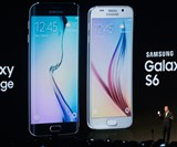 CEO and president of Samsung JK Shin presents the new Samsung Galaxy S6 during the Mobile World Congress Sunday in Barcelona, Spain.