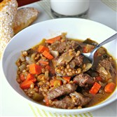 Beef Wheat Berry Stew.