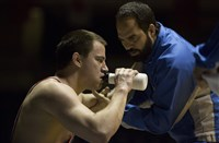 "From left, Channing Tatum as Mark Schultz and Mark Ruffalo as Dave Schultz in ""Foxcatcher."""