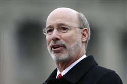 Gov. Tom Wolf delivers his budget address for the 2015-16 fiscal year to a joint session of the state House and Senate in Harrisburg on Tuesday.