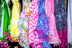 Colorful scarves from the forthcoming Lilly Pulitzer for Target collection.