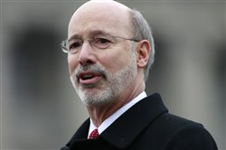 Gov. Tom Wolf delivers his budget address March 3 in Harrisburg.