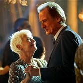 "Judi Dench as Evelyn Greenslade and Bill Nighy as Douglas Ainslie in ""The Second Best Exotic Marigold Hotel."""
