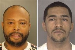 Agents and police are looking for William Blair, left, and James McCray.