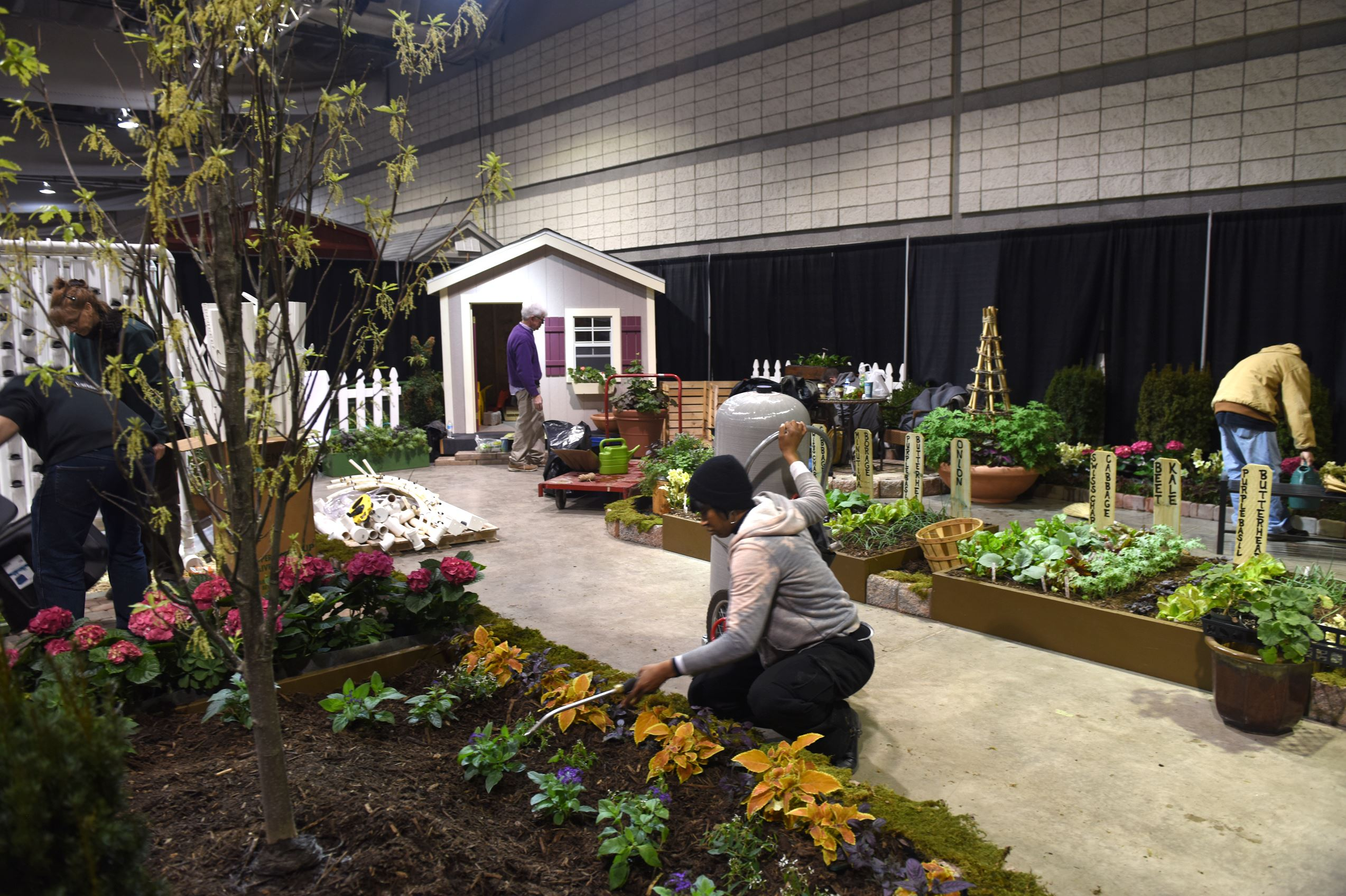 Home And Garden Show -  garden design with bidwell training center stages two gardens at home show with backyard kitchen ideas