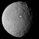 This February image provided by NASA shows the dwarf planet Ceres, taken by the space agency's Dawn spacecraft from a distance of nearly 29,000 miles. On Friday, Dawn arrived at the mysterious dwarf planet located in the asteroid belt between Mars and Jupiter after a nearly eight-year journey. Dawn, which previously visited Vesta, also in the asteroid belt, has already beamed back images of Ceres while it was closing in.