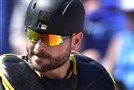 Pirates catcher Francisco Cervelli against the Toronto Blue Jays earlier this month at Florida Auto Exchange Stadium in Dunedin, Florida.