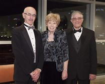 Honorees Dr. Mark A. Goodman, Mary Markle and Dr. William H. Markle.