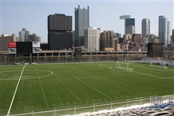Highmark Stadium in Pittsburgh, home of the 2015 Pitt Blue-Gold spring game.