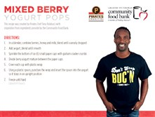 This card for mixed berry yogurt pops was endorsed by Andrew McCutchen.