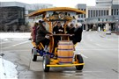 "The Pittsburgh Party Pedaler, a ""bicycle bar,"" heads out for a bachelorette party tour of the North Side. The Party Pedaler can be booked for tours Downtown, on the North Shore and in the Strip District."