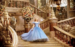 "Lily James as Cinderella in Disney's live-action feature inspired by the classic fairy tale, ""Cinderella."""