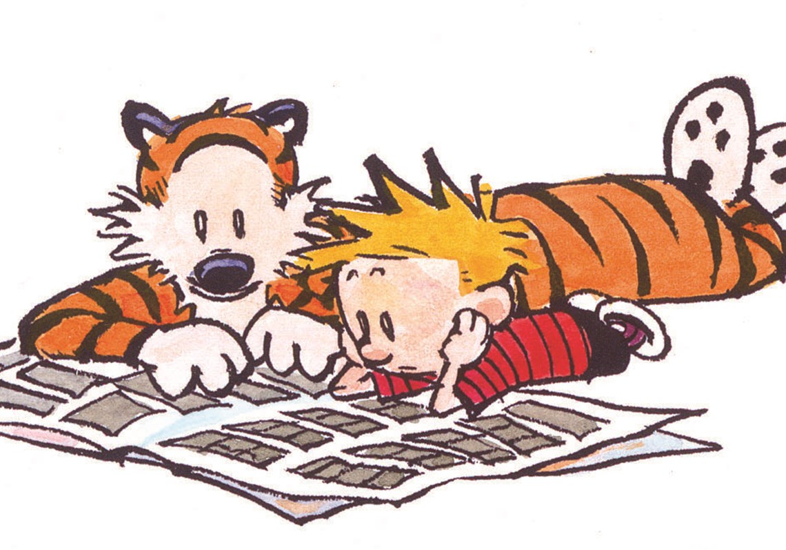 bill watterson speaks how pogo and peanuts inspired the creator rh post gazette com  calvin and hobbes birthday clipart