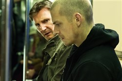 "Liam Neeson, left, as Jimmy Conlon and Joel Kinnaman as Mike Conlon in ""Run All Night."""