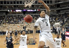 "University of Pittsburgh's Cameron Wright scores against Notre Dame during the Jan. 31 game at the Petersen Events Center. ""We have to make this into the best situation possible and finish as the best team we can possibly be,"" coach Jamie Dixon said about earning a spot in the NIT."