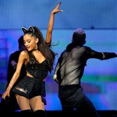 Ariana Grande performs at the Petersen Event Center on Tuesday night.