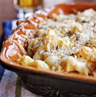Cheese and butter meet in the comfort food Irish Mac and Cheese.