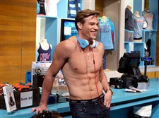 "Matthew Noszka models Ellen underwear in the show's riff-raff room during an appearance on ""The Ellen Degeneres Show"" earlier this year. He was discovered in 2014 by a Wilhelmina agent who saw a shirtless photo of him posted on Instagram."