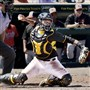Pirates catcher Elias Diaz throws to second on his knees Sunday against the Orioles during spring training in March at McKechnie Field in Bradenton, Fla.
