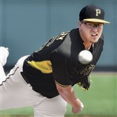 Vance Worley delivers against the Orioles earlier this month at McKechnie Field in Bradenton, Florida.