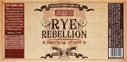 Rye Rebellion, a whiskey barrel aged imperial stout that was brewed using four different types of rye.