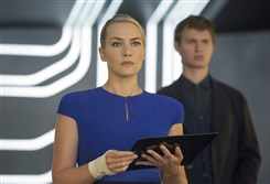 "Kate Winslet and Ansel Elgort in ""The Divergent Series: Insurgent."""