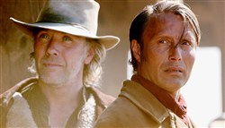 "Mikael Persbrandt and Mads Mikkelsen star in ""The Salvation."""