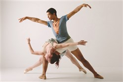 "Alan Obuzor and Kelsey Bartman of Texture Contemporary Ballet. The troupe's presentation of ""Unleashed Emotion"" is a show of old and new works by choreographers Mr. Obuzor and Ms. Bartman."
