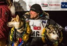Dallas Seavey poses with his lead dogs Reef, left, and Hero in Nome, Alaska today during the Iditarod Trail Sled Dog Race. Seavey won his third Iditarod in the last four years, beating his father, Mitch, to the finish line after racing 1,000 miles across Alaska.