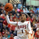 Aliquippa's Jordan Jassir drives to the basket in the PIAA semifinal vs. West Middlesex Tuesday at New Castle.