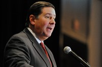 Mayor Bill Peduto spent Tuesday at the state Capitol lobbying for municipal pension reform.