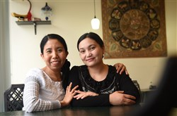 Myat Theingi and Aye Yee, owners of Royal Myanmar restaurant in West View.