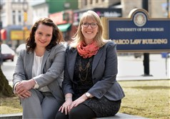 Jaclyn Clifford and Marlene van Es will soon be graduating from the University of Pittsburgh Law school and are starting a firm for legal aid to entrepreneurs who want to start environmental oriented businesses in the city.
