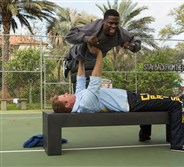 "Kevin Hart as Darnell and Will Ferrell as James in the comedy ""Get Hard."""