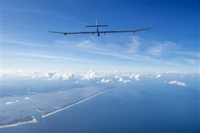 Solar Impulse 1, the solar-powered airplane of Swiss pioneers Bertrand Piccard and Andre Borschberg, completes its final leg of the Across America campaign in July 2013. The journey began in May in San Francisco. The plane flew day and night without fuel. It was powered exclusively by solar energy.