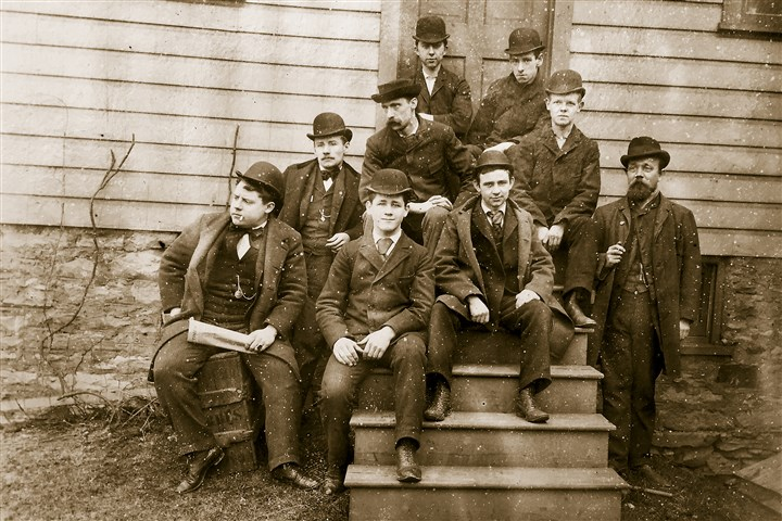BrashearTimeCapsule1 This picture dated August 1894 shows employees of John A. Brashear's mechanical department.