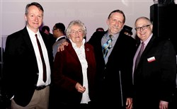 From left, Scott McCauley, Betsy Fisk, Stuart Fisk and Chuck Christen.