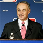 Baseball commissioner Rob Manfred agrees with Pirates owner Bob Nutting on international draft.