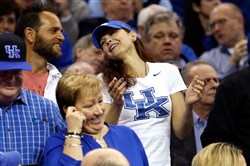 Long-time Kentucky fan Ashley Judd was back in Cleveland for the Wildcats' Midwest Region final Saturday night.