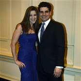 Bethany and Salvatore Corrado,  she is wearing Nicole Miller. #SEENBestDressedCouple