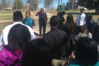 Pittsburgh high school students tour Tennessee State University's campus on March 30, 2015.