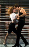 "Samuel Pergande as Johnny and Gillian Abbott as Baby in ""Dirty Dancing -- The Classic Story on Stage."""