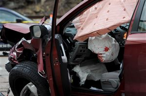 Police investigate the scene of a fatal accident on Route 8 in Shaler.