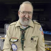 Bill Harris, 67, Troop Committee Chairman, was recognized by Boys Scouts of America's National Council for 50 years in scouting, having been a scout and leader for 51 1/2 years with the same Ingram Troop 158, which meets at the Ingram United Presbyterian Church.