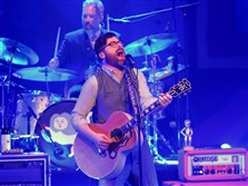 Lead singer Colin Meloy and drummer John Moen of indie rockers the Decemberists returned to the Benedum Center, Downtown, Tuesday.