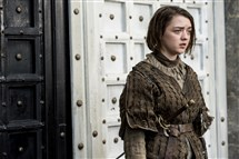 Arya Starks, portrayed by Maisie Williams.
