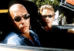 "Vin Diesel and Paul Walker in ""The Fast and the Furious""."