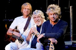 Justin Hayward, Graeme Edge and John Lodge of The Moody Blues.