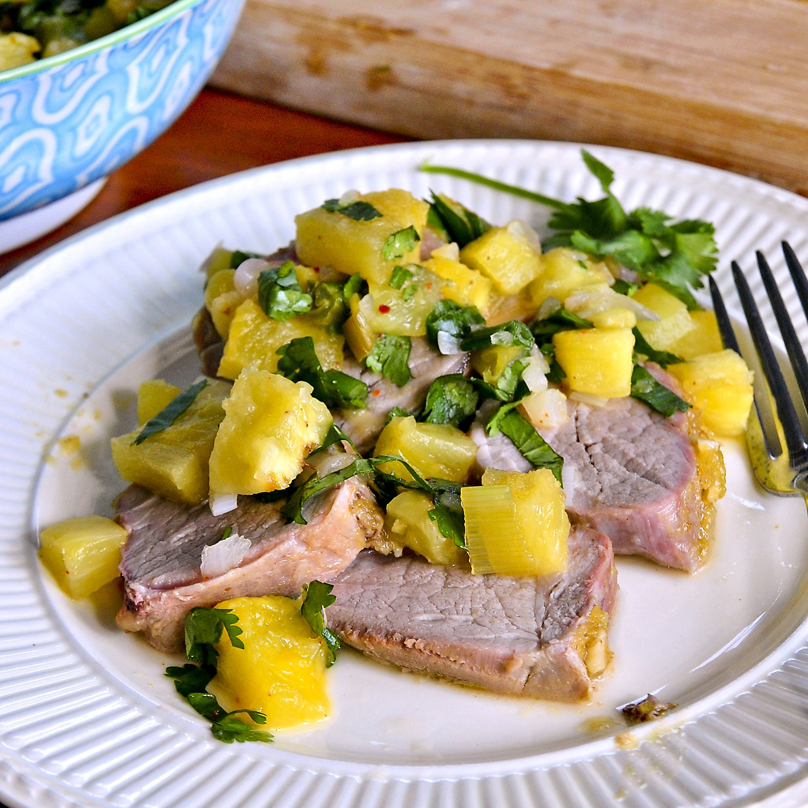 Let's Eat: Glazed Pork Loin With Pineapple-Scallion Chutney