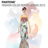 "The cover of Pantone's ""Fashion Color Report Spring 2015,"" with an pastel illustration by Dennis Basso."